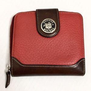 Dooney & Bourke | VINTAGE Red/Brown Leather Wallet
